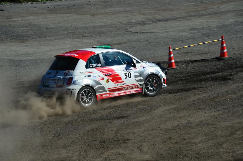 #50 眞貝知志/田中直哉 ABARTH 500 Rally R3T
