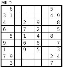 sudoku-mild
